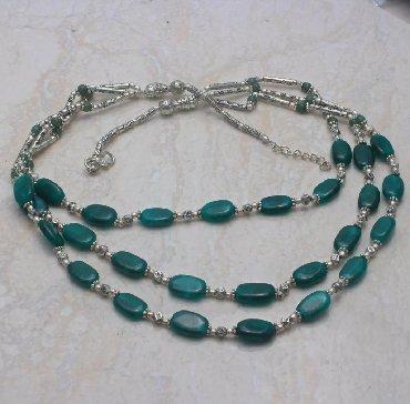 Изумрудное этническое ожерелье ручной работы (индия)-22манат