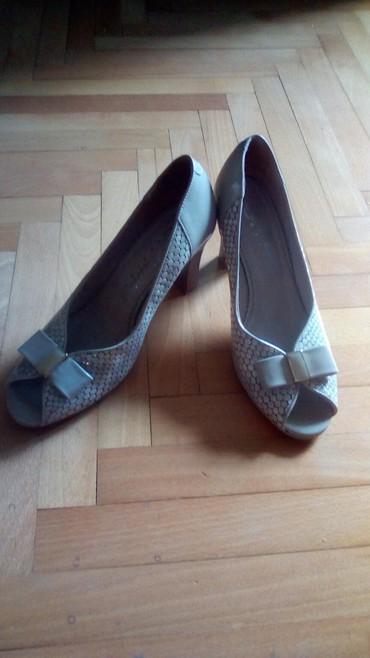 Cipele kao nove, dva puta obuvene... Koza, stikla 8cm,veoma udobne... - Valjevo