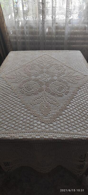Скатерть, ручная работа, 170 на 160 см, 1500 сом