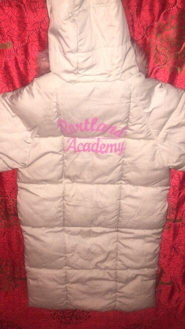 Продаю. Куртка (женская) белая, длинная, зима. Б/у. Цена 900 сом