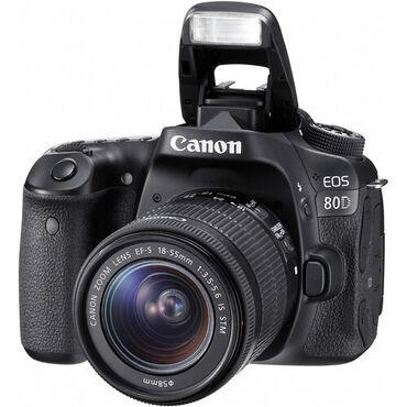 фотоаппарат canon 10 мегапикселей в Кыргызстан: Canon EOS 80D 18-55 IS STM KIT. НовыйПолный заводской комплект в