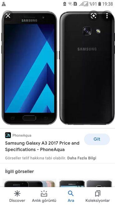 1083 elan | SAMSUNG: Samsung Galaxy A3 2017 | 16 GB | Qara | Düyməli, Barmaq izi