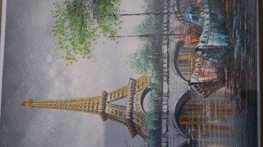 Картина размер 30х40,х/масло,париж,0554491416, 0777491416, 0700491416 в Бишкек