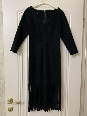 Платье Mia; материал замша; цвет: черныйРазмер SОдевала 2 раза;
