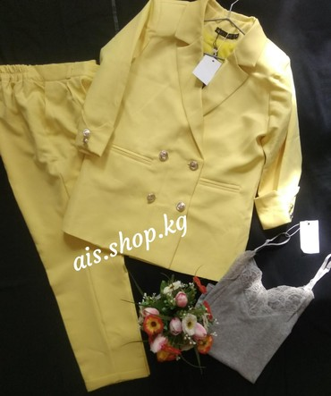 Брючный костюм женский вечерний - Кыргызстан: Брючный костюм размер: 42/44____________________Майка (стандарт) - 400