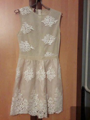 Бежевое платье с кружевами от Imperial. Размер 44-46 в Бишкек