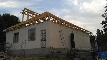 Крыша -фундамент стяжка кафель обои кладка мастер бригада в Бишкек