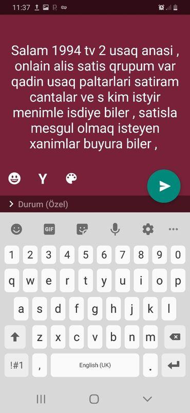 - Azərbaycan: Onlain qadin usag paltarlari cantalar satiram kim istese qrupma qosula