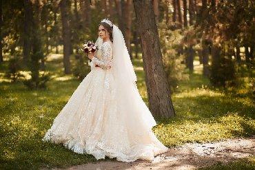 Свадебные платья и аксессуары - Бишкек: Продаю свадебное платье! Состояние идеальное покупала новое один р