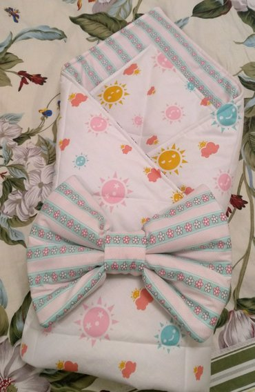 Одеяло-конверт, бант-подушка на резинке. в Кант
