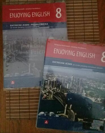Izdavanje - Srbija: Enjoying english, radna sveska i udžbenik za VIII razred, K. Kovačević