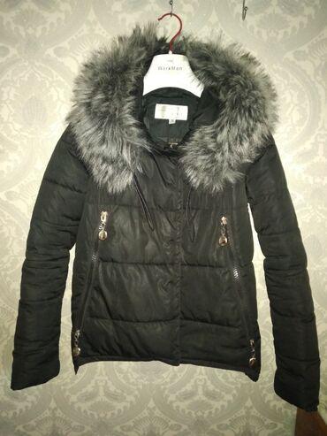 женская платье 42 44 размер в Кыргызстан: Зимняя короткая куртка размер 42-44