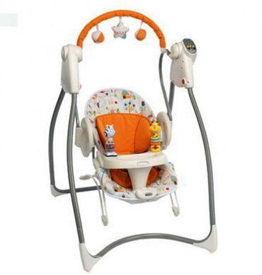 Электрокачели Graco Swing`n`bounce используются от рождения 0+ и до 12