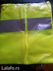 Uoroscentni sigurnosni prsluk zute boje (sastavni deo obavezne opreme - Beograd - slika 2