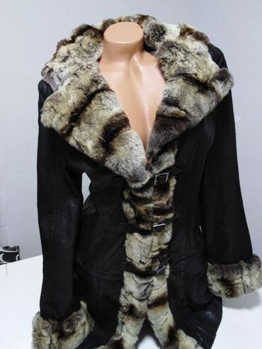 Jakna sa prirodnim krznom - Srbija: VEMAPELE ITALY Vera Pelle vrhunska kožna jakna sa prirodnim krznom
