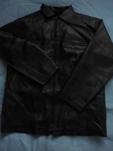 Рабочая осенне-зимняя куртка не промокаемая из кожзаменителя, с
