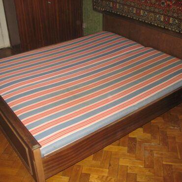 Двухспальная кровать советская б/у с матрасом
