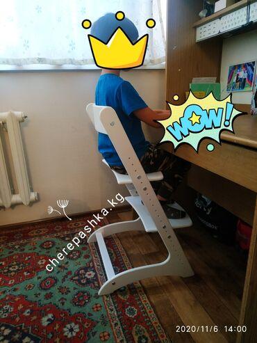 Детская мебель - Цвет: Красный - Бишкек: Растущий стулдетский подходит от 2лет и будет расти вместе с вашим м