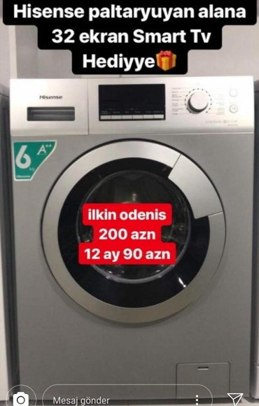 Sumqayıt şəhərində Öndən Avtomat Washing Machine LG 7 kq.