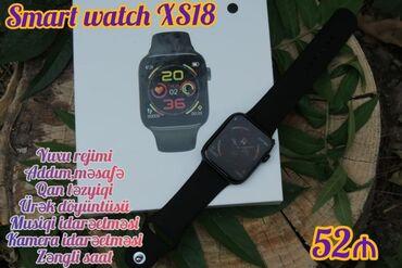 musiqi - Azərbaycan: Smart Watch XS18 - 52 ₼1.Saat göstəricisi2.ürək döyüntüsü3.Musiqi
