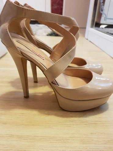 Ženska obuća | Odzaci: Kožne bez štikle broj 40, stikla 13 cm platforma 3.5 cm