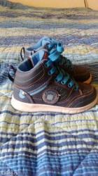 Decije patika cipele, kombinacija teget i tirkizno plave boje, vrlo - Vrnjacka Banja