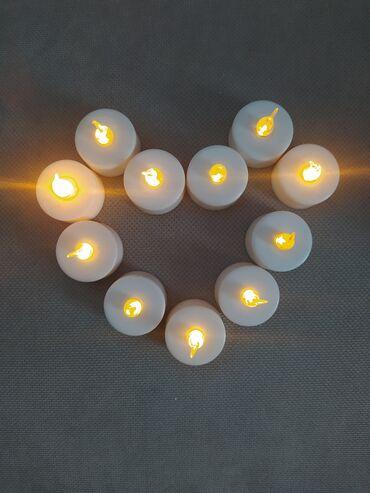 Светодиодные свечи на батарейках б/у 10 шт