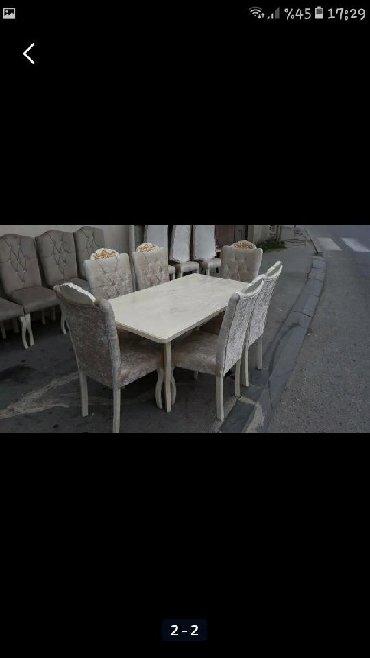 Xırdalan şəhərində Stol stul tezedur acilandir stol temiz fistiq aqacindandir chatdrilma