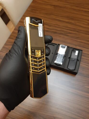 Vertu Signature Gold Slayder -Tam bağlı Qutuda,Qeydiyyatlı !-2 nömrə +
