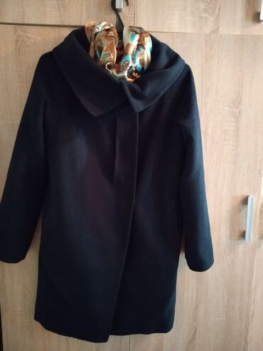 Пальто 44-46р. Цвет темно синий. Крой разлитайка