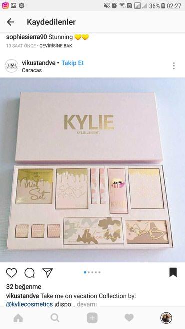Bakı şəhərində Kylie kosmetika naboru.etrafli melumat almaq isteyenler whatsapa yazsi