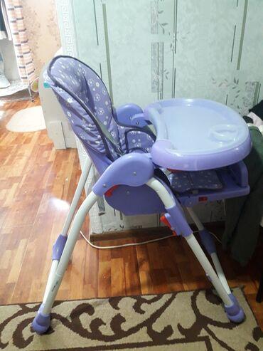 детский деревянный стул купить в Кыргызстан: Детский стульчик спинка регулируется, состояние хорошое