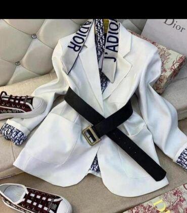 Пиджак белый Dior,реплика, и пиджак черный,экокожа, Турция,отличного