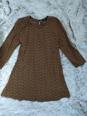 Personalni proizvodi | Ruma: H&M haljina, kao nova, mini, žuto crni print. XS/S/M. Ramena 36