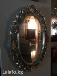 Итальянское зеркало размер l58 p4 h80 овальное состаренное. в Бишкек