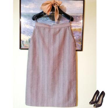 Poslovno elegantni komlet - Srbija: Elegantna suknja, dubok struk, bez ikakvih oštecenja, postavljena, vel