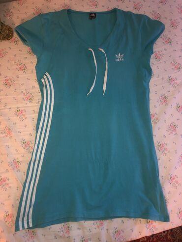 Adidas haljine - Srbija: Adidas plava haljina S - M velicina