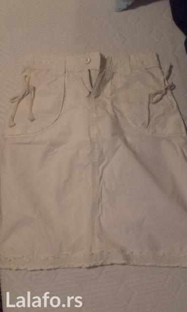 Lepa bela suknja sa diskretnom cipkom,velicina s,pamuk - Beograd