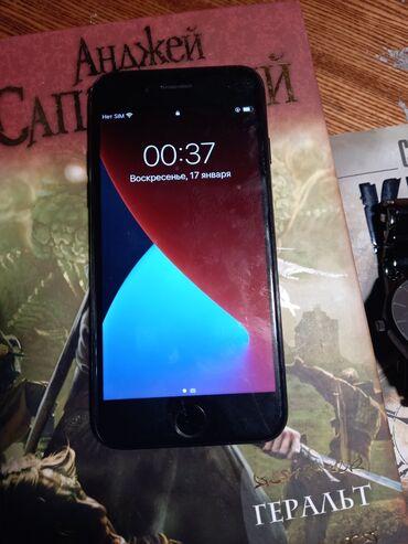 iphone 7 купить бу в Кыргызстан: Б/У iPhone 7 128 ГБ Черный (Jet Black)