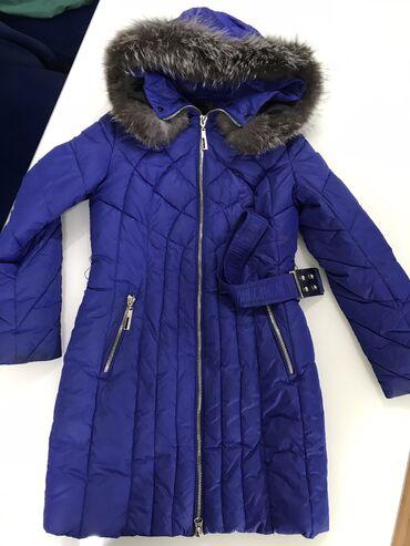 Женская зимняя куртка  С натуральным мехом  Размер: S-M