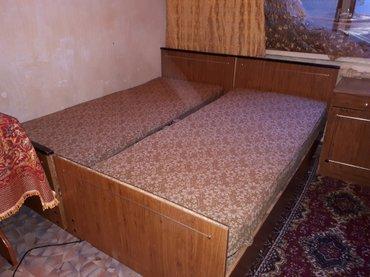 продаю б-у спальню со шкафом и тумбочкой. матрас почти как новый в Бишкек
