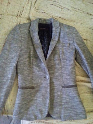 Pantalone pamuk polyester - Srbija: Zenski sako zara basic vel.xs 34 sastav 62%pamuk i 38% polyester,sivi