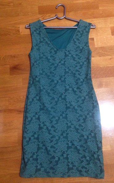 Zelena haljina sa cipkom elegantna, moze za S i M velicinu, kao nova - Indija