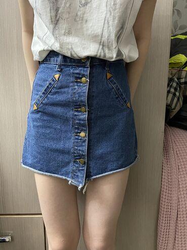 Джинсовая юбка Размер 42-44 Состояние хорошее