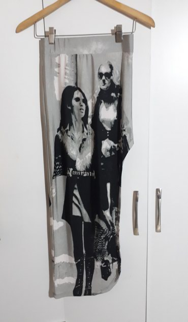 Юбка классная новая бренда KİKİ RİKİ в пол с разрезом до бедра размер