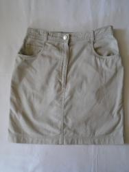 Suknja struka od - Srbija: Suknja kao od teksasa neke bež nijanse, od 100% pamuka, prijatna i