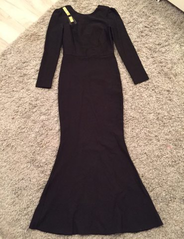 Duga crna sirena haljina, prati oblik tela i cela je rastegljiva, - Novi Sad