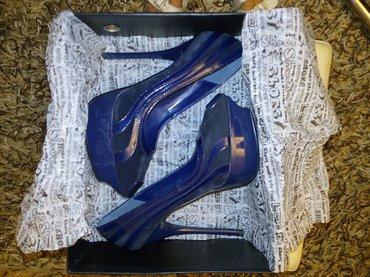 Teget cipele, platforma, broj 37, štikla 15 cm, nove, nisu nošene - Belgrade