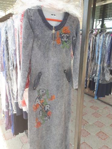 Джинса, стрейчевая, очень удобное платье. Турция в Сокулук