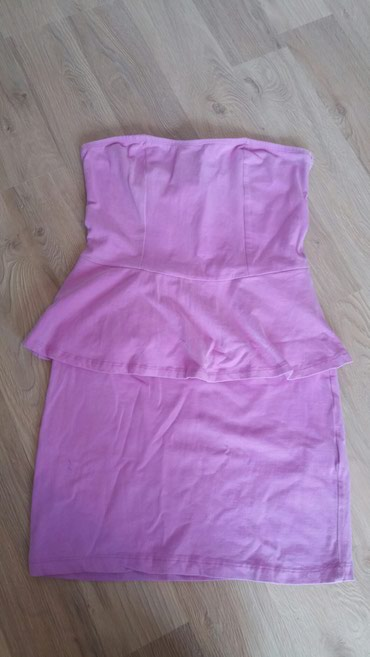 Boje-zenska - Srbija: Dobro ocuvana zenska haljinica, roze boje, pamucna, kupljena u